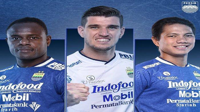 (Dari kiri ke kanan) Bek tengah Persib Bandung, Victor Igbonefo, Nick Kuipers dan Jupe pada postingan Instagram @persib pada 26 September 2021. Achmad Jufriyanto diprediksi jadi starter saat lawan Bhayangkara FC jika Victor Igbonefo harus absen.