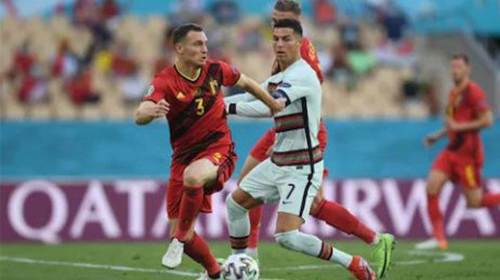 Laga Belgia Vs Portugal di babak 16 besar Euro 2020 pada Website UEFA 28 Juni 2021.