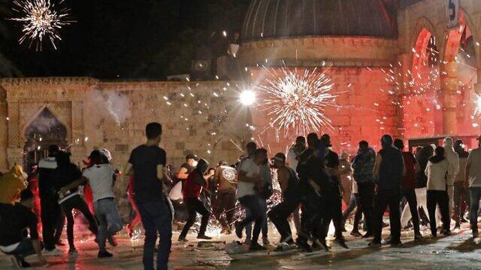 Betrokan di Masjid Al Aqsa Telan Korban 205 Warga Palestina, Berikut Pembelaan Aparat Polisi Israel
