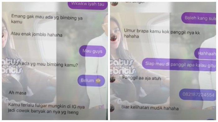 Beredar isi percakapan Sule dengan Tisya Erni lewat Instagram.