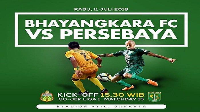 Live Streaming Liga 1 Indonesia, Bhayangkara FC Vs Persebaya Pukul 15.30 WIB di Indosiar