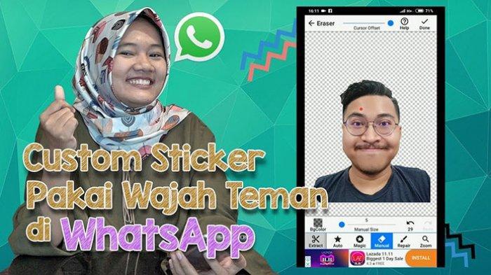 Video Tutorial Membuat Stiker Wajah Sendiri atau Teman, Kirim via WhatsApp (WA) Android & iPhone