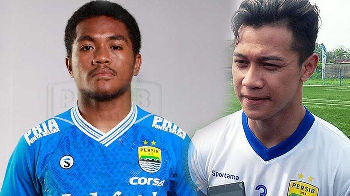 Billy Keraf (kiri) dan Muhammad Fisabillah dicoret dari skuat Persib Bandung musim 2019. Dua pemain ini tak masuk skema permainan Robert Rene Albert.