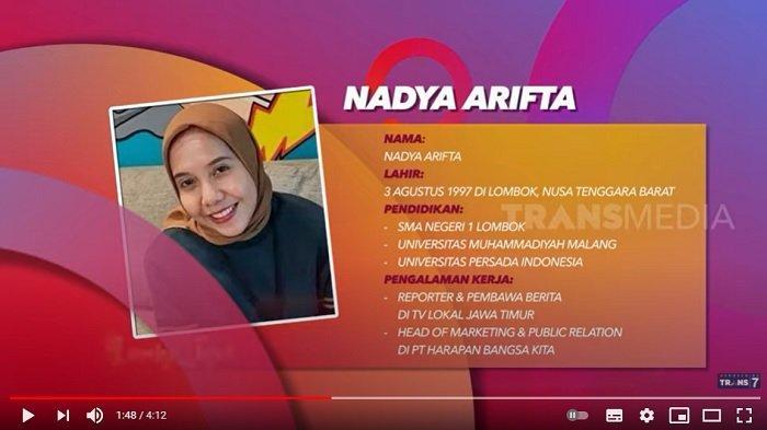 Biodata Nadya Arifta