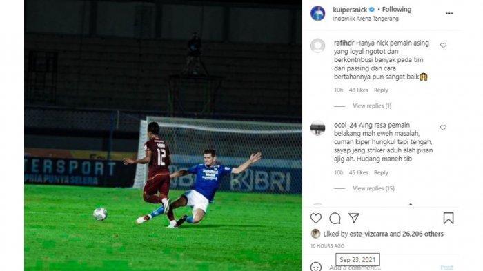 Pujian Bobotoh untuk bek asing Persib Bandung, Nick Kuipers.