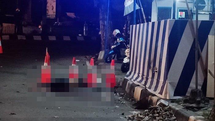 Bom bunuh diri di pos polisi Kartosuro, Senin (3/6/2019).