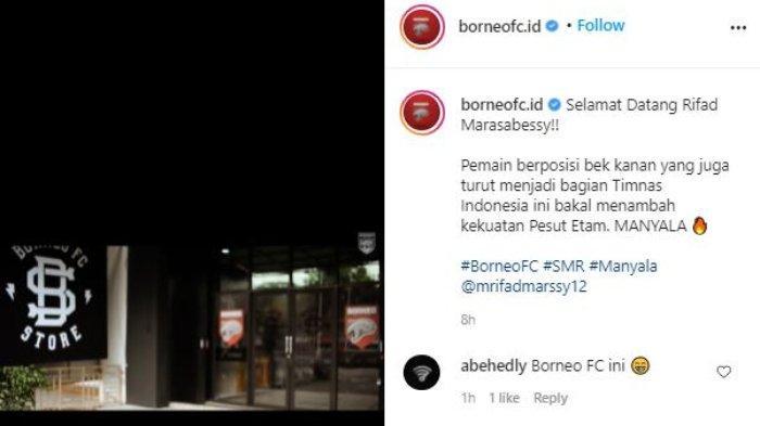 Borneo FC resmi datangkan Rifad Marasabessy untuk gantikan Diego Michiels, Minggu (2/5/2021).