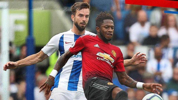 Manchester United kalah dari Brighton dengan skor 2-3 pada laga kedua Liga Inggris, Senin (20/8/2018).