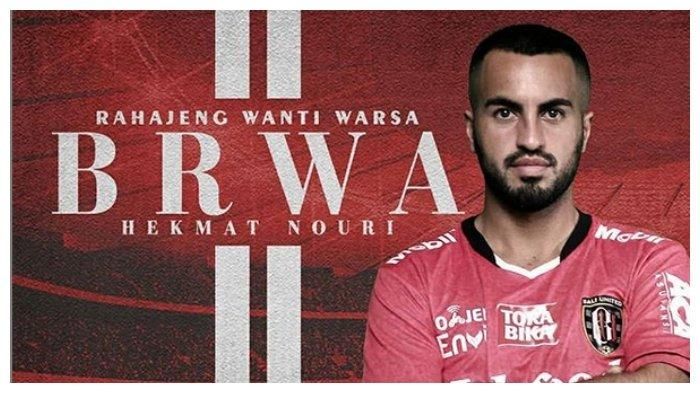 Salah satu pemain asing Bali United, Brwa Nouri