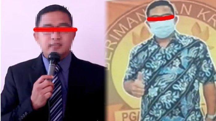 BS, oknum kepala sekolah sekaligus pendeta di Medan yang mencabuli 7 siswi SD.