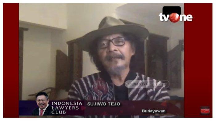 Budayan Sudjiwo Tedjo dalam acara Indonesia Lawyers Club, Selasa (19/5/2020).