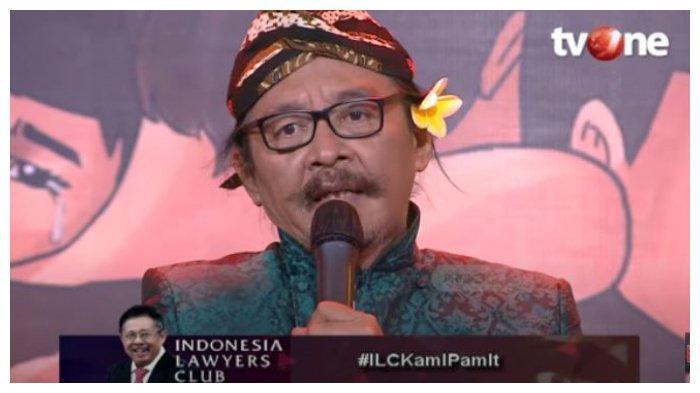 Budayawan Sujiwo Tejo memberikan pesan dan kesan pada episode terakhir program acara Indonesia Lawyers Club (ILC), Selasa (15/12/2020).