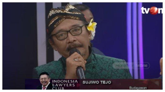 Budayawan Sujiwo Tejo pada episode terakhir program acara Indonesia Lawyers Club (ILC).