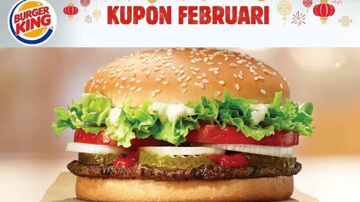 10 Kupon Promo Burger King dari Ayam hingga Burger Mozarella, Mulai Rp 18 Ribuan di Februari 2019