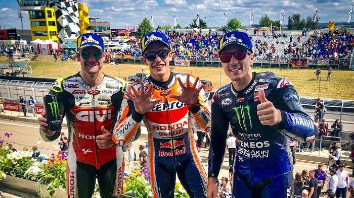 Raih Kemenangan di MotoGP Jerman, Marc Marquez: Balapan Lebih Mudah saat Alex Rins Jatuh