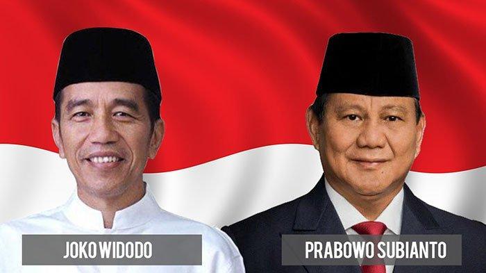 Capres 01 Joko Widodo (Jokowi) dan Capres 02 Prabowo Subianto.