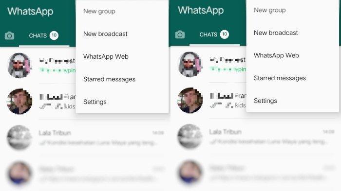 Cara membuat broadcast chat di WhatsApp.