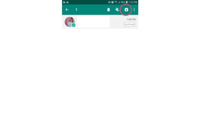 Cara mengembalikan pesan yang telah diarsipkan ke layar chat