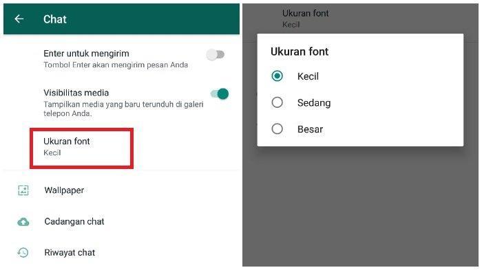 Cara Mengubah Besar Kecil Font di WhatsApp