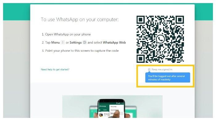 Cara login Whatsapp