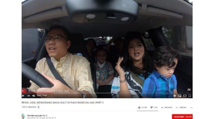 Carpool karaoke keluarga Anang Hermansyah dan Ashanty.