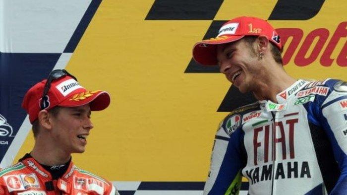 Valentino Rossi Tak Dimasukkan dalam Daftar Rival Favorit Casey Stoner, Dani Pedrosa di Peringkat 1