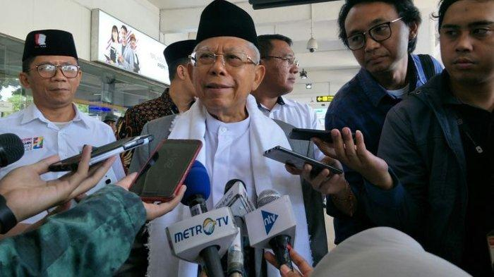 Ma'ruf Amin Imbau Warga Tak Gelar Aksi di Jalanan Lagi: Pak Prabowo Sudah Tempuh Jalan Konstitusi