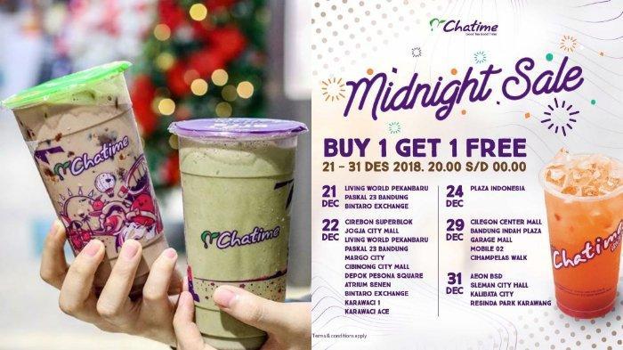 Promo Chatime Midnight Sale 'Buy One Get One Free', Cek Syarat dan Ketentuannya!
