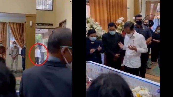 Sikap Jokowi saat Masuk Rumah Duka Viktor Sirait Jadi Sorotan, Ajudan sempat Berhenti Tampak Bingung