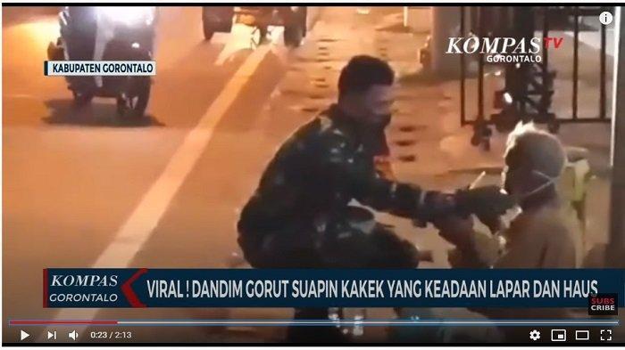 Cerita Dandim Gorontalo Utara Suapi Kakek yang Lapar dan Haus di Pinggir Jalan: Saya secara Spontan