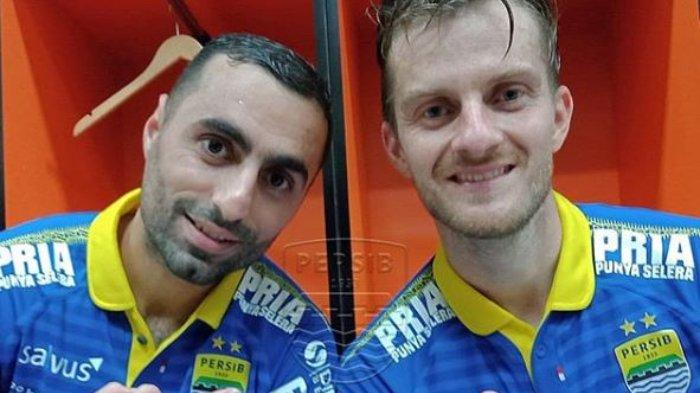 Artur Gevorkyan dan Rene Mihelic di Persib Bandung