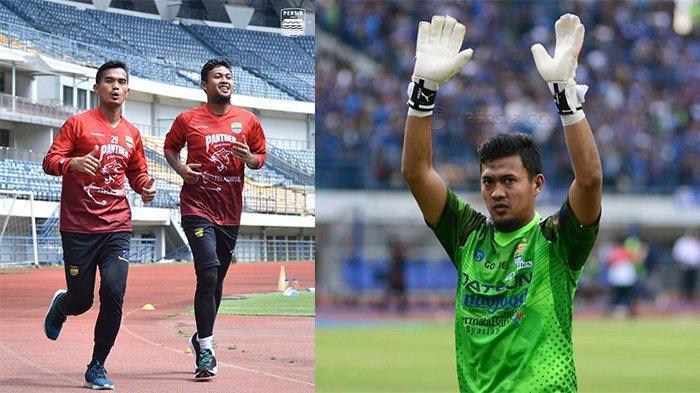 Deden Natshir berlatih bersama Dhika Bayangkara (kiri) pada postingan Instagram @persib pada 22 Mei 2021 dan Deden Natshir pada postingan Instagram @deden_natshir01  pada 24 Mei 2018. Kiper Persib Bandung, Deden Natshir telah pulih dari cedera.