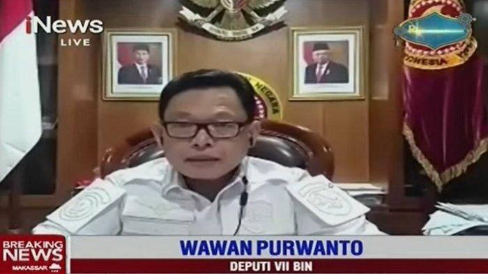 Deputi VII BIN Wawan Purwanto mengungkapkan operasi jaringan teroris sudah direncanakan sejak Januari lalu, Rabu (31/3/2021). Hal itu menyusul serangan teroris bom bunuh diri di Gereja Katedral Makassar dan tembak-menembak dengan terduga teroris di Mabes Polri.