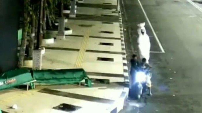 Fakta Viral Pencurian Boneka Pocong di Alun-alun Lamongan, Pelaku Terekam CCTV Tiba-tiba Menepi