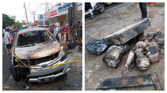 Viral di Facebook, Video Detik-detik Mobil yang Membawa Jeriken dan Gas LPG Terbakar di Parepare