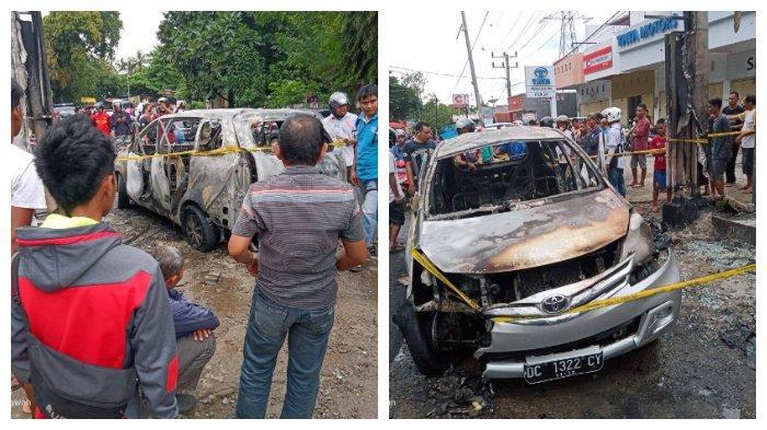 Detik-detik terbakarnya mobil di Parepare yang membawa jeriken berisi minyak dan lpg.