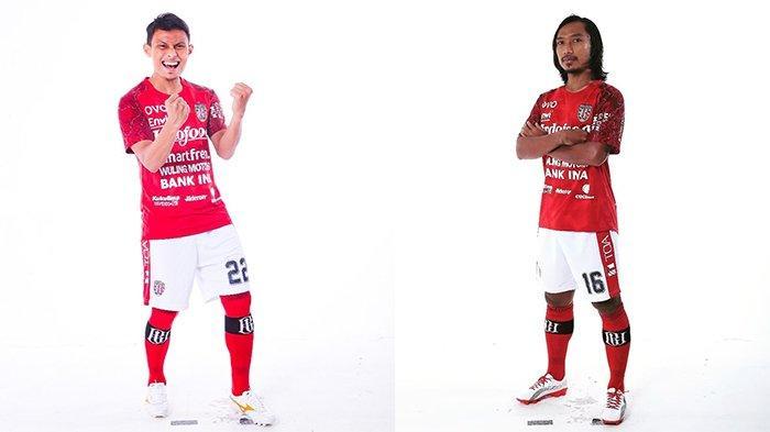 Dias Angga Putra (kanan) pada postingan Instagram @Diasanggaputra6 pada 28 Februari 2020 dan Hariono (kiri) pada postingan Instagram @gondrong_hari pada 1 Maret 2020. Kedua pemain bermain baik saat bertemu mantan timnya, Persib Bandung di Piala Menpora 2021 Grup D.