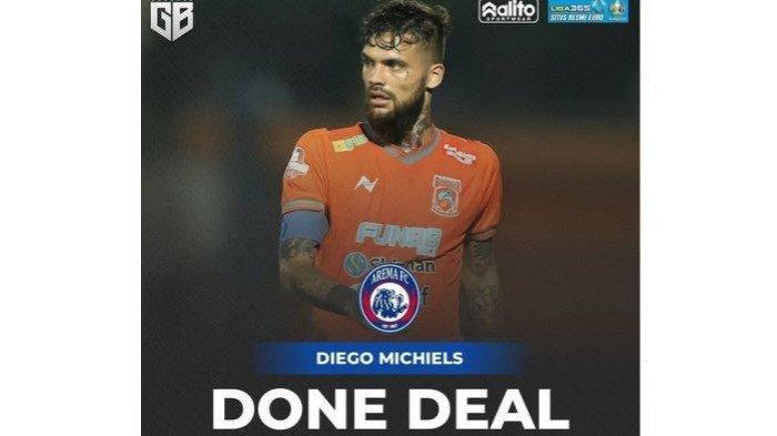 Sempat Dirumorkan Kuat ke Persib Bandung, Ternyata Diego Michiels Gabung Arema FC