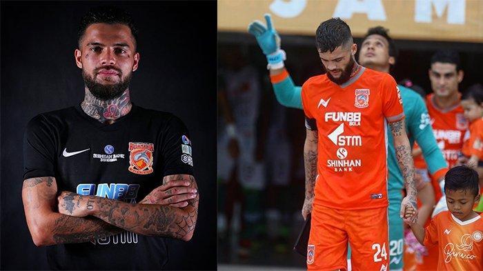 Diego Michiels pada postingan Instagram @diegomichiels24 (kiri) pada 14 Februari 2018 dan (kanan) pada 11 Desember 2018. Bek sayap kanan yang dirumorkan diincar Persib Bandung.
