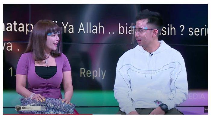 Dinar Candy dan Bobby dalam acara 'Rumpi No Secret' Trans TV, Kamis (24/9/2020).