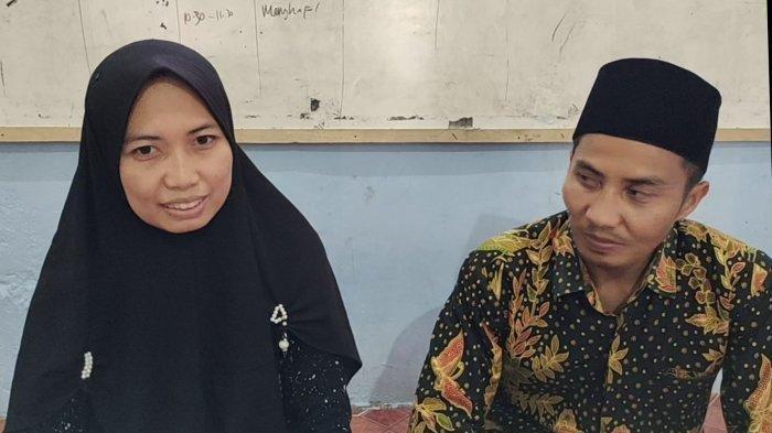 Dini Fauzi Lestari dan Nasrullah menjelaskan viralnya video gaji suami yang hanya di bayar Rp 6 ribu per sekali ngajar, Senin (14/6/2021).