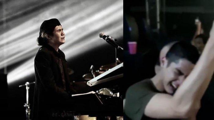 Al Ghazali dan Dul Jaelani menangis saat konser Dewa 19 di Malaysia, mereka menangis saat lagu 'Hadapi dengan Senyuman' dinyanyikan