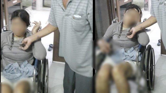 Seorang wanita mengalami penyekapan hingga dirantai di lehernya di wilayah Jalan Tangguk Bongkar, Kelurahan Tegal Sari Mandala, Medan Denai, subuh, Jumat (23/4/2021).