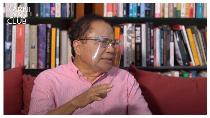 Ekonom senior Rizal Ramli, dalam tayangan YouTube Karni Ilyas Club, Jumat (23/10/2020).