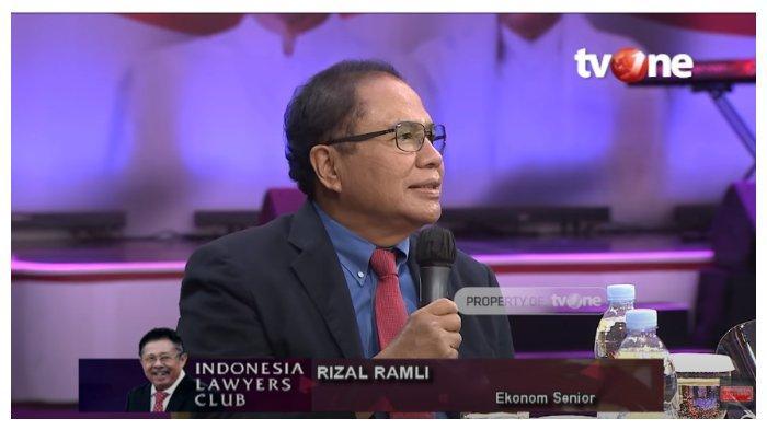 Ekonom senior Rizal Ramli memberikan sorotan tajam terhadap cara atau perlakukan dalam penangkapan aktivis Koalisi Aksi Menyelamatkan Indonesia (KAMI), dalam acara Indonesia Lawyers Club (ILC), Selasa (20/10/2020).