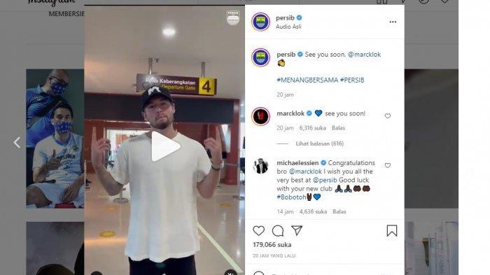 Komentar Michael Essien melalui akun Instagram @michaelessien pada unggahan akun Instagram @persib pada Rabu (30/6/2021).