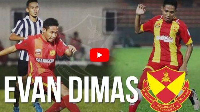 Evan Dimas Akhirnya Berhasil Cetak Gol Perdananya di Selangor FC saat Kontra Terengganu