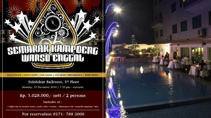 Usung Tema Etnik Jawa, Aston Hotel Solo Sambut Tahun Baru 2019 di 'Semarak Kampoeng Warso Enggal'