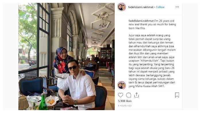 Unggahan Fadel melalui unggahan akun Instagramnya, Sabtu (4/5/2019).