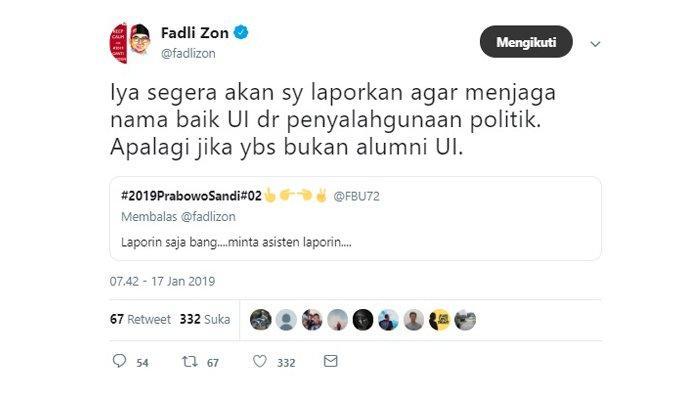 Cuitan Fadli Zon